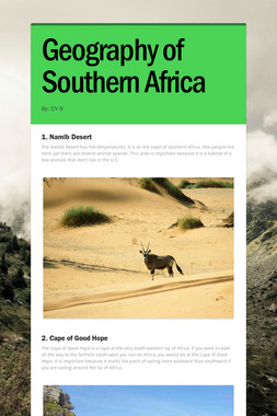 Geography of Southern Africa