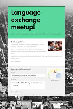 Language exchange meetup!