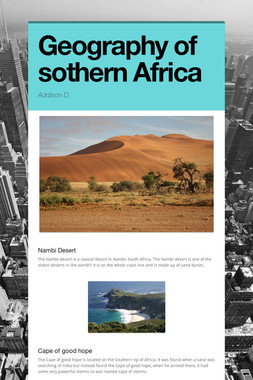Geography of sothern Africa