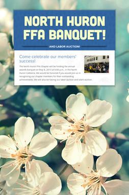 North Huron FFA Banquet!