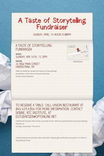 A Taste of Storytelling Fundraiser
