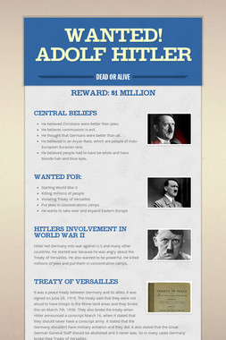 Wanted! Adolf Hitler
