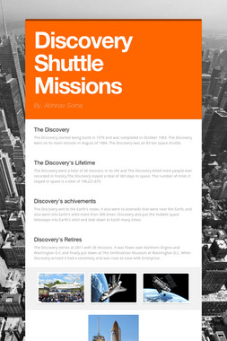 Discovery Shuttle Missions