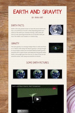 EARTH AND GRAVITY