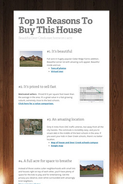 Top 10 Reasons To Buy This House
