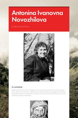 Antonina Ivanovna Novozhilova