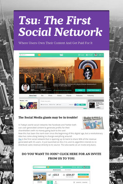 Tsu: The First Social Network