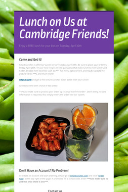 Lunch on Us at Cambridge Friends!