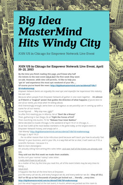 Big Idea MasterMind Hits Windy City