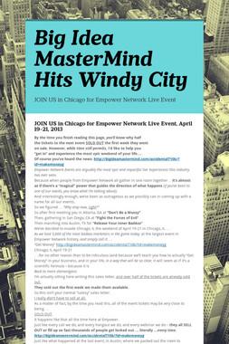 Big Idea MasterMind Hits Windy City