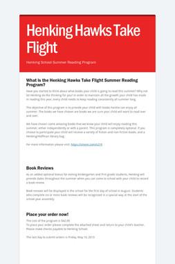 Henking Hawks Take Flight