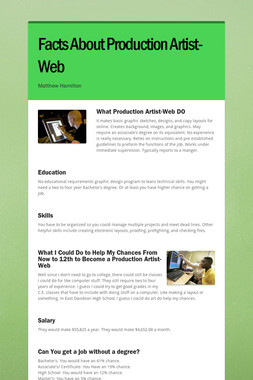 Facts About Production Artist-Web