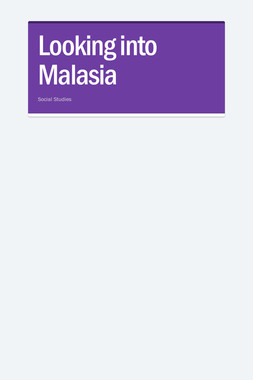 Looking into Malasia