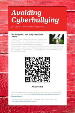 Avoiding Cyberbullying