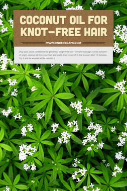 Coconut Oil For Knot-Free Hair