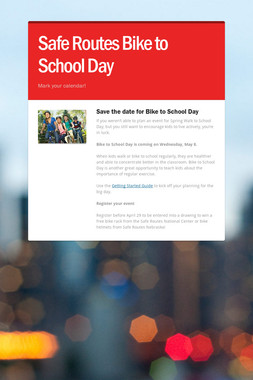 Safe Routes Bike to School Day