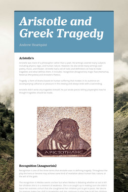 Aristotle and Greek Tragedy