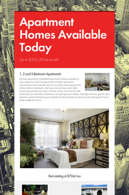 Apartment Homes Available Today