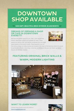 Downtown Shop Available