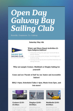Open Day Galway Bay Sailing Club