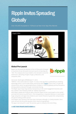Rippln Invites Spreading Globally
