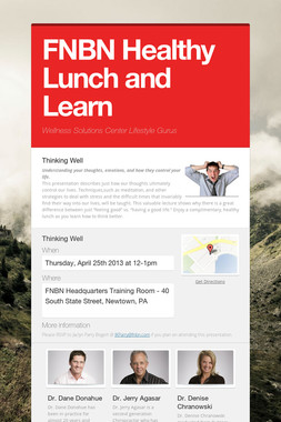 FNBN Healthy Lunch and Learn