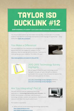 Taylor ISD DuckLink #12
