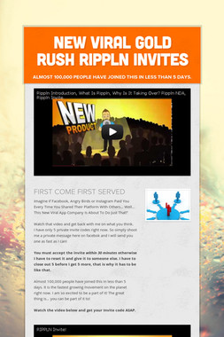 NEW VIRAL GOLD RUSH RIPPLN INVITES