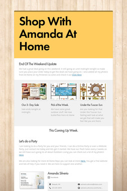 Shop With Amanda At Home