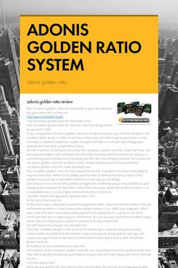 ADONIS GOLDEN RATIO SYSTEM