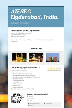 AIESEC Hyderabad, India.