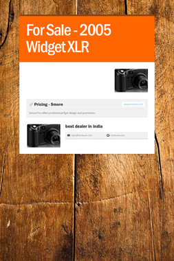 For Sale - 2005 Widget XLR