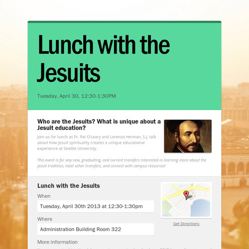 Lunch with the Jesuits
