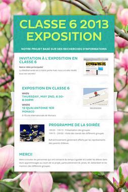 Classe 6 2013 Exposition