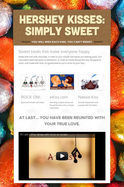 Hershey kisses: simply sweet