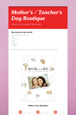 Mother's / Teacher's Day Boutique