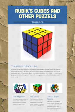 Rubik's Cubes and other puzzels