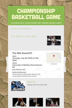 Championship Basketball Game