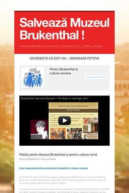Salvează Muzeul Brukenthal !