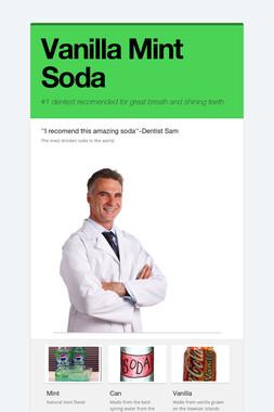 Vanilla Mint Soda