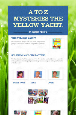 A to Z Mysteries The Yellow Yacht.