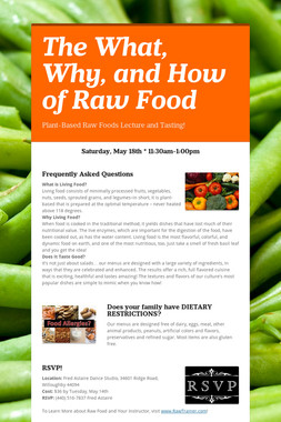 The What, Why, and How of Raw Food