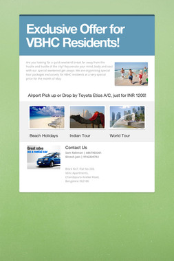 Exclusive Offer for VBHC Residents!