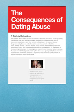 The Consequences of Dating Abuse