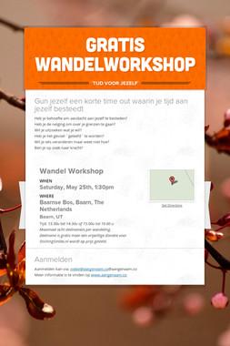 Gratis wandelworkshop