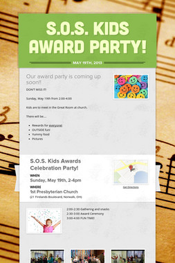 S.O.S. Kids Award Party!