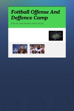 Fottball Offense And Deffence Camp