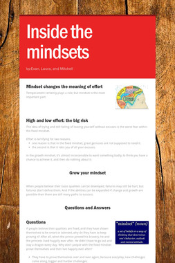 Inside the mindsets