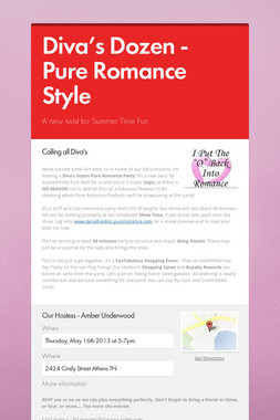 Diva's Dozen - Pure Romance Style