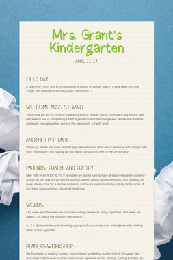 Mrs. Grant's Kindergarten